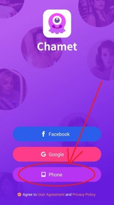 Chamet-register-new-account-with-phone